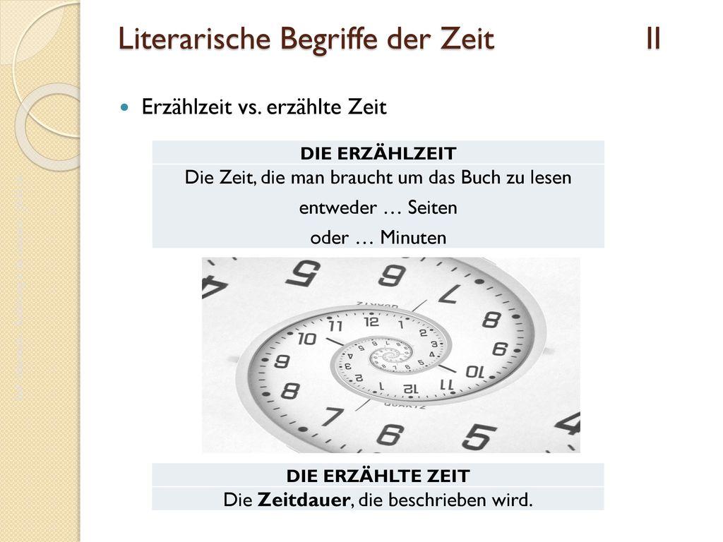 Literarische Begriffe der Zeit II