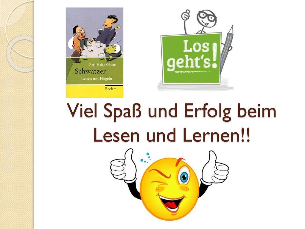Viel Spaß und Erfolg beim Lesen und Lernen!!