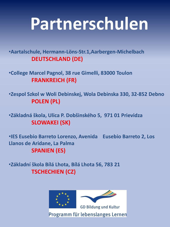 Partnerschulen Aartalschule, Hermann-Löns-Str.1,Aarbergen-Michelbach DEUTSCHLAND (DE)