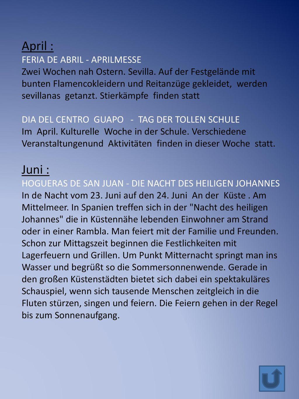 April : Juni : FERIA DE ABRIL - APRILMESSE