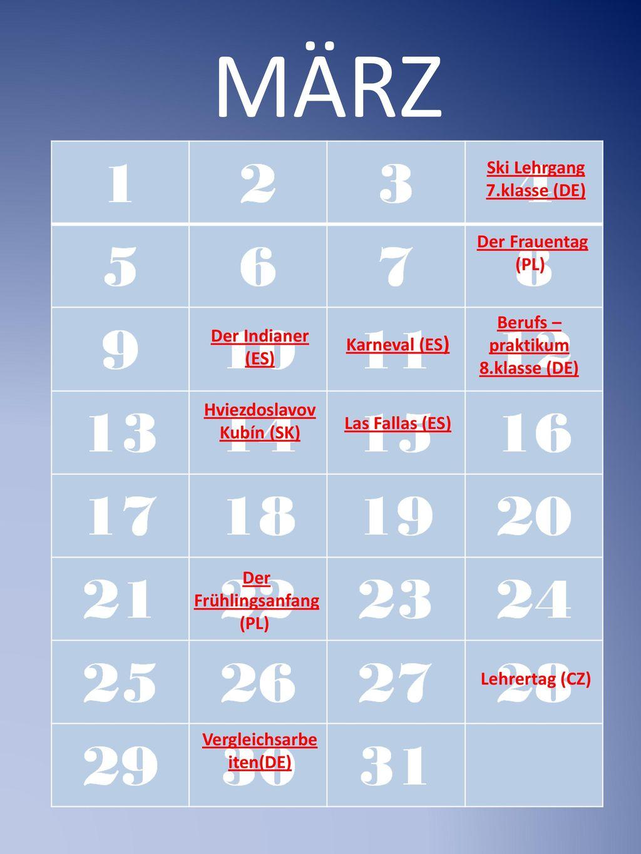 MÄRZ Ski Lehrgang 7.klasse (DE) Der Frauentag (PL)