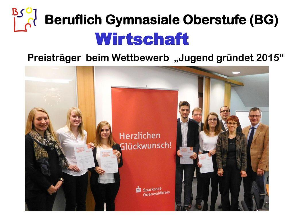 """Preisträger beim Wettbewerb """"Jugend gründet 2015"""