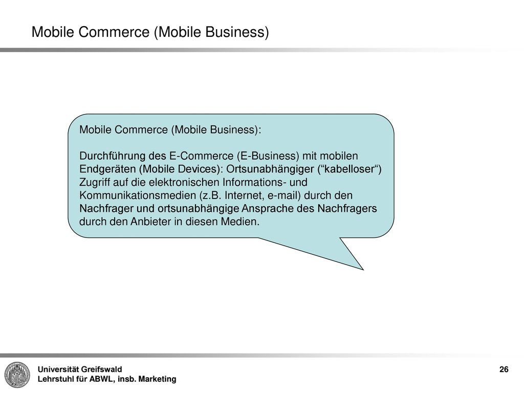 Mobile Commerce (Mobile Business)