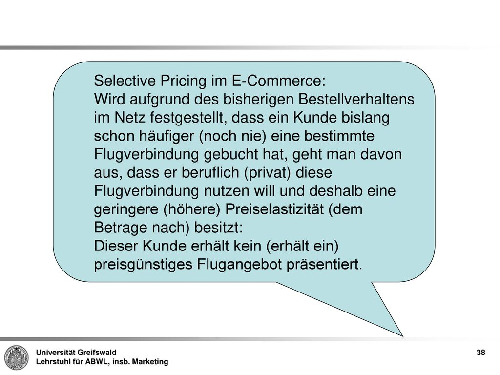 Selective Pricing im E-Commerce: