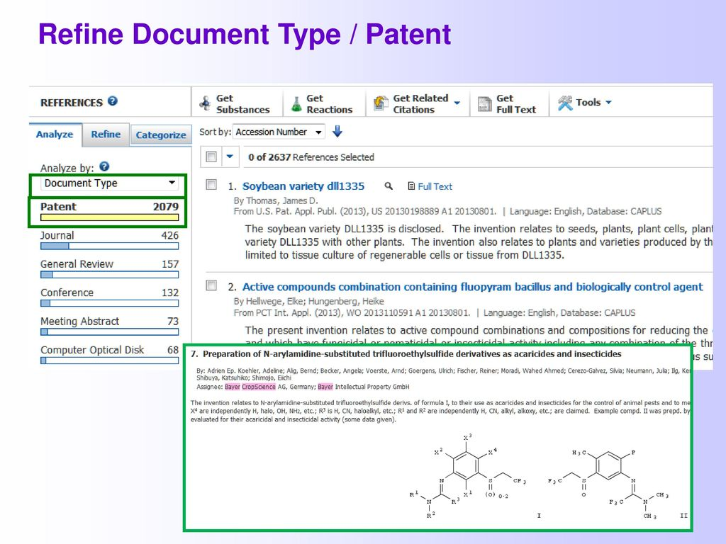 Refine Document Type / Patent