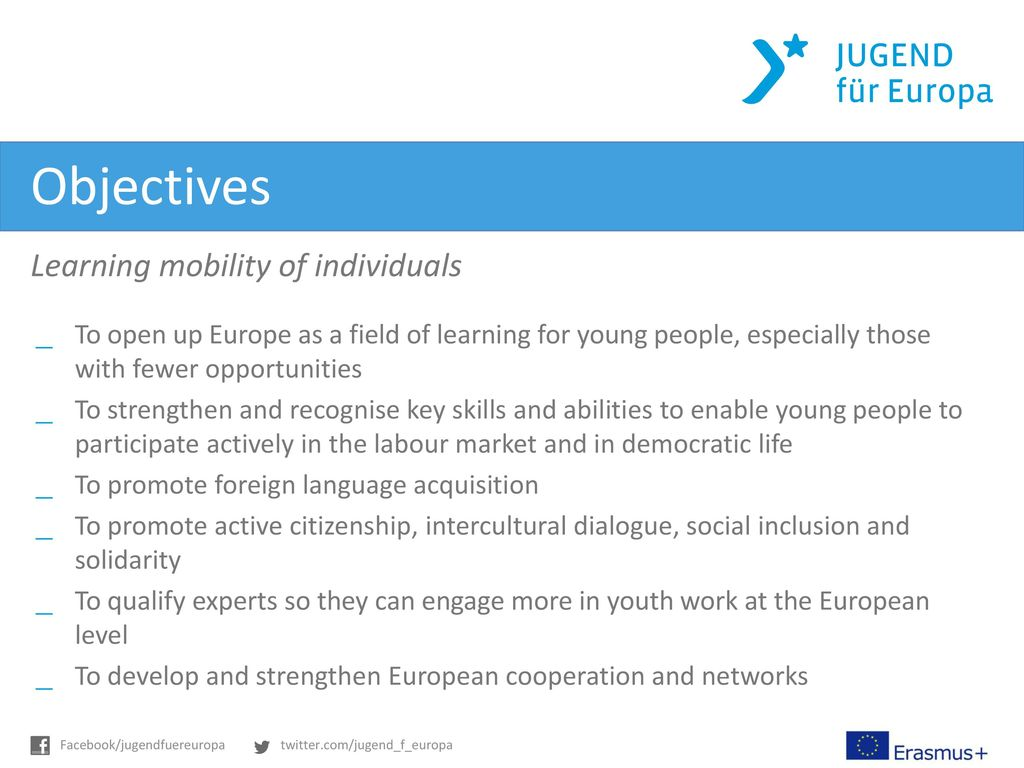 Objectives Learning mobility of individuals
