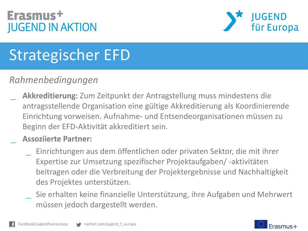 Strategischer EFD Rahmenbedingungen