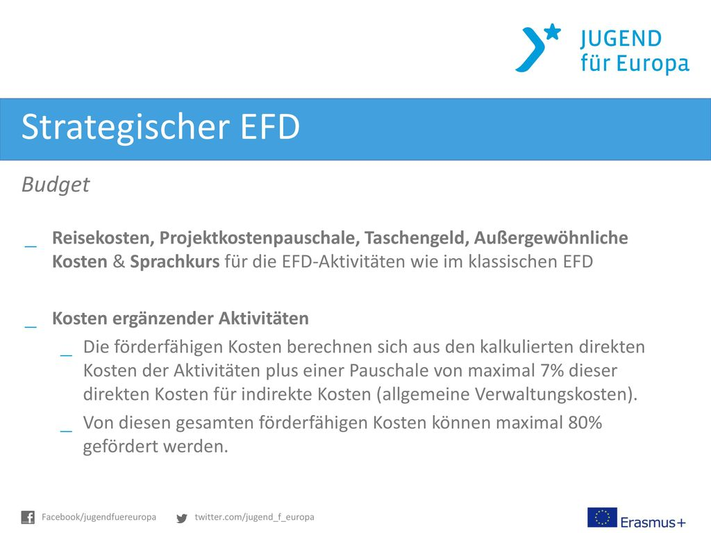 Strategischer EFD Budget