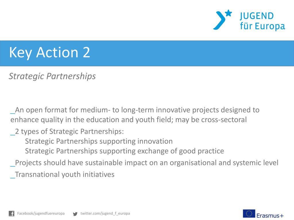 Key Action 2 Strategic Partnerships