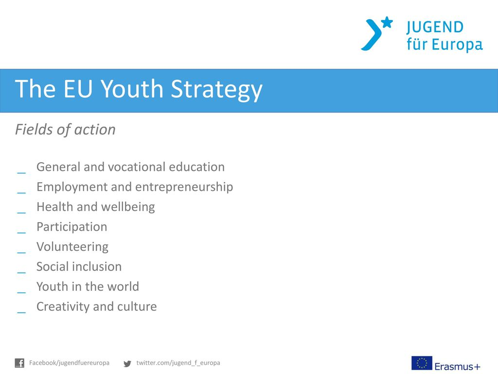 The EU Youth Strategy Fields of action