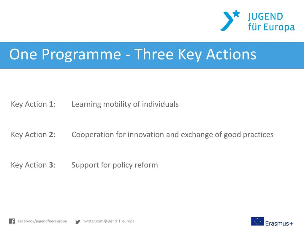 One Programme - Three Key Actions
