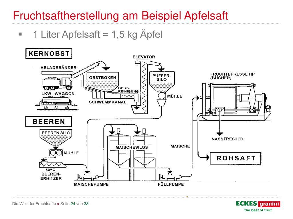 Fruchtsaftherstellung am Beispiel Apfelsaft