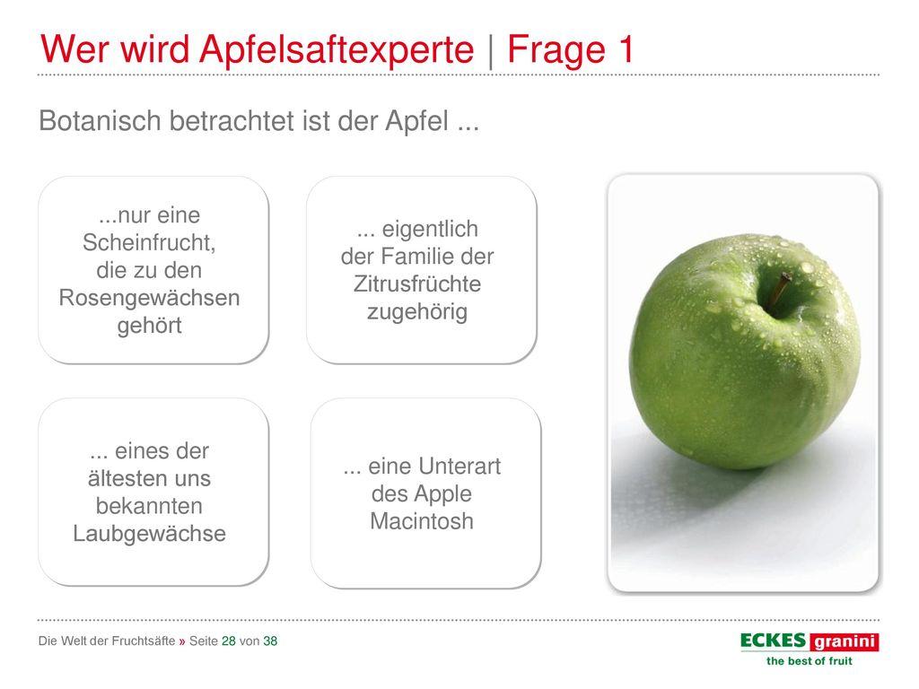 Wer wird Apfelsaftexperte | Frage 1