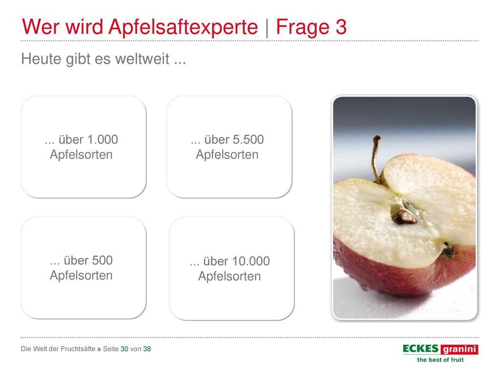 Wer wird Apfelsaftexperte | Frage 3