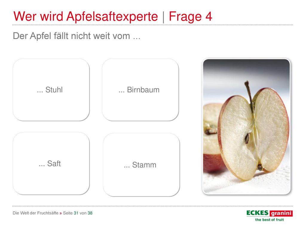 Wer wird Apfelsaftexperte | Frage 4