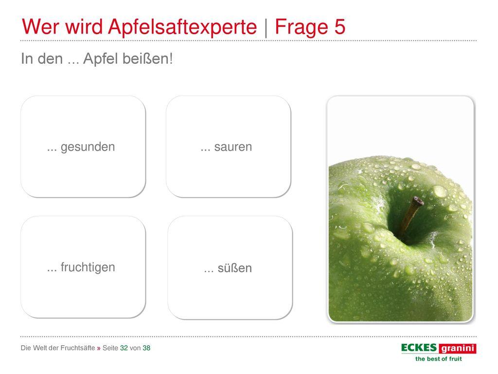 Wer wird Apfelsaftexperte | Frage 5