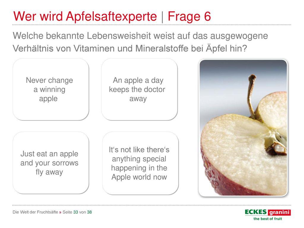 Wer wird Apfelsaftexperte | Frage 6