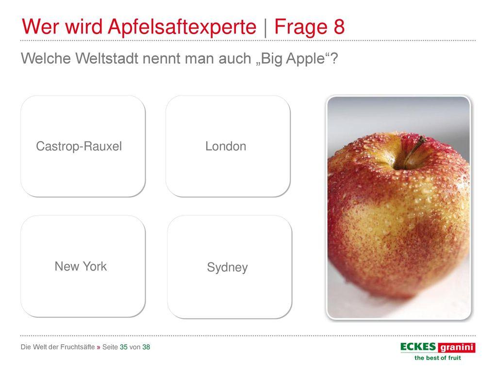 Wer wird Apfelsaftexperte | Frage 8
