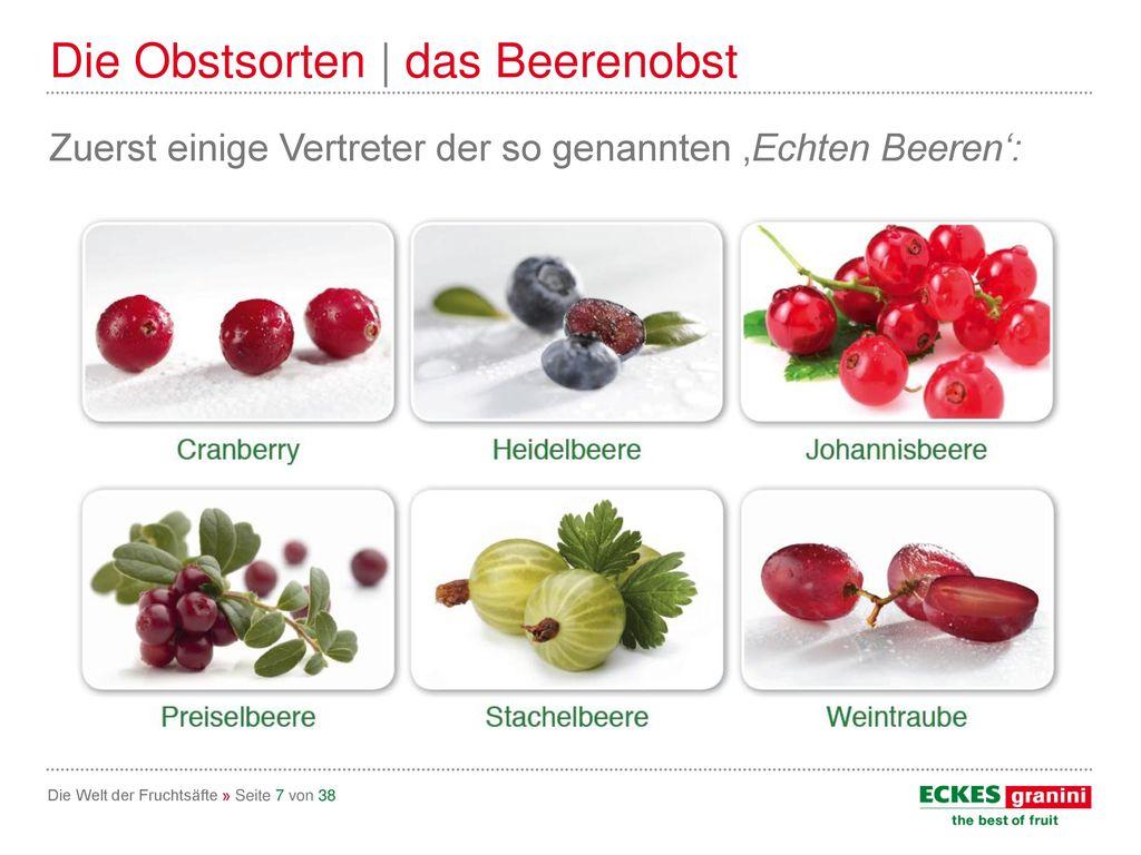 Die Obstsorten | das Beerenobst