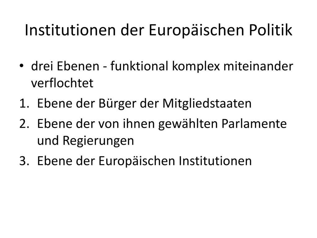 Institutionen der Europäischen Politik