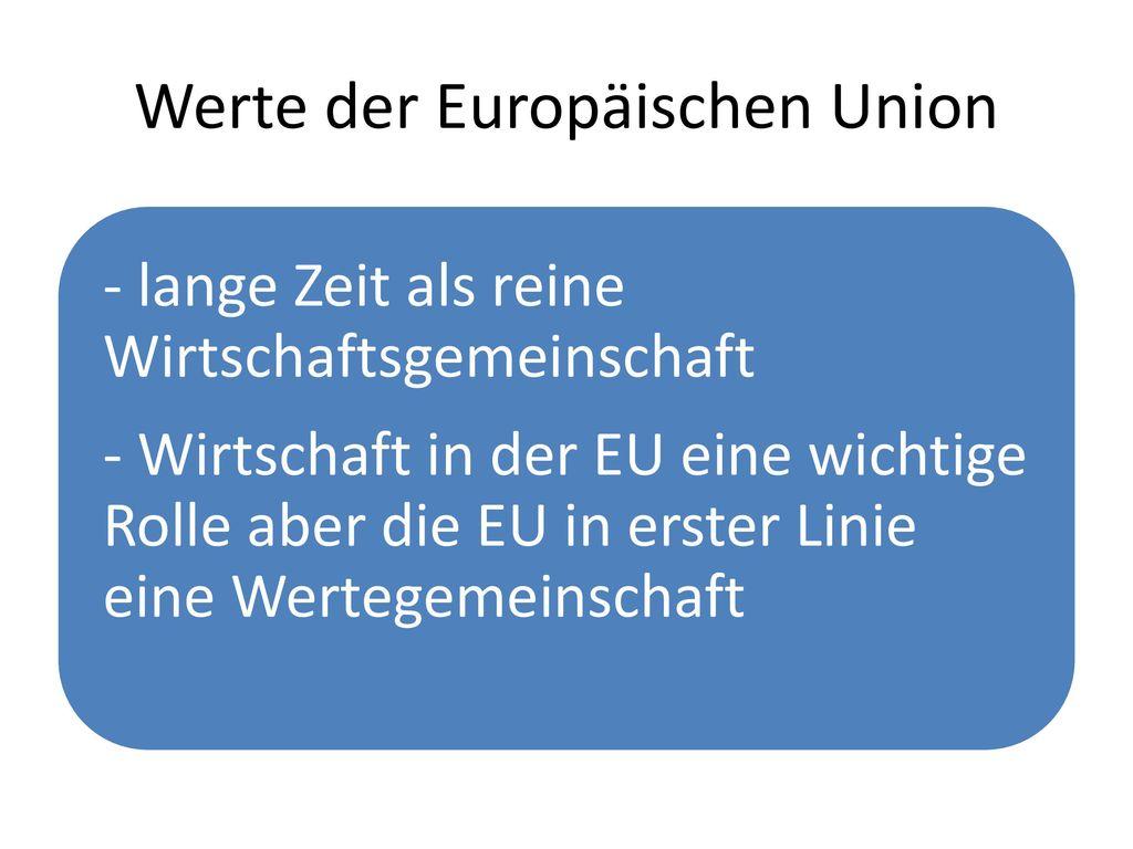Werte der Europäischen Union
