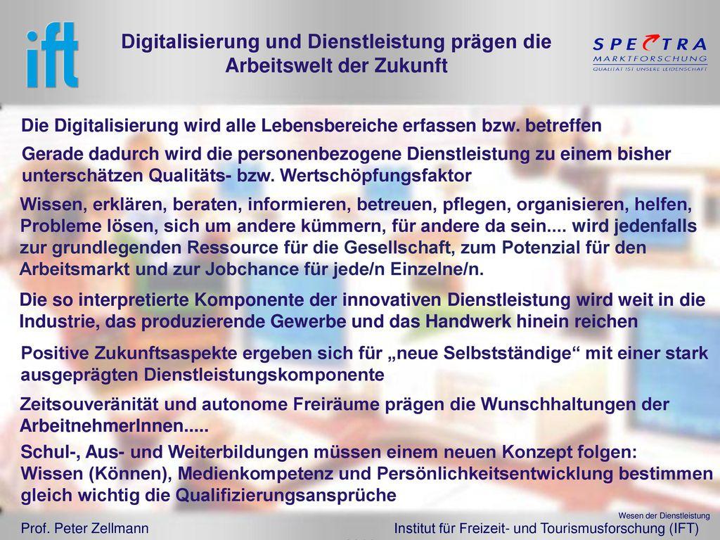 Digitalisierung und Dienstleistung prägen die Arbeitswelt der Zukunft