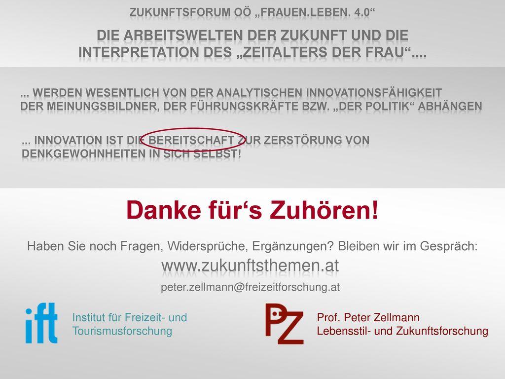 """Zukunftsforum OÖ """"frauen.leben. 4.0"""