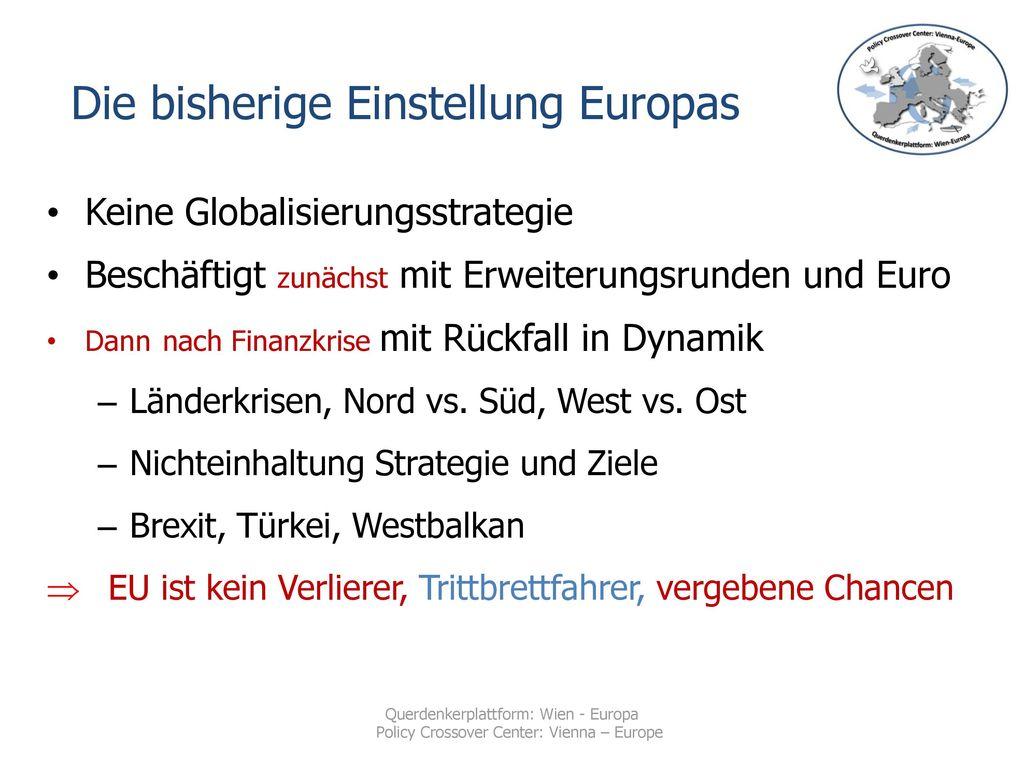 Die bisherige Einstellung Europas