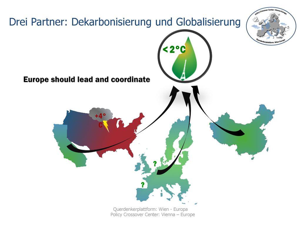 Drei Partner: Dekarbonisierung und Globalisierung