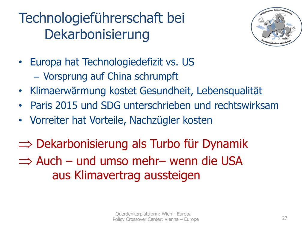 Technologieführerschaft bei Dekarbonisierung