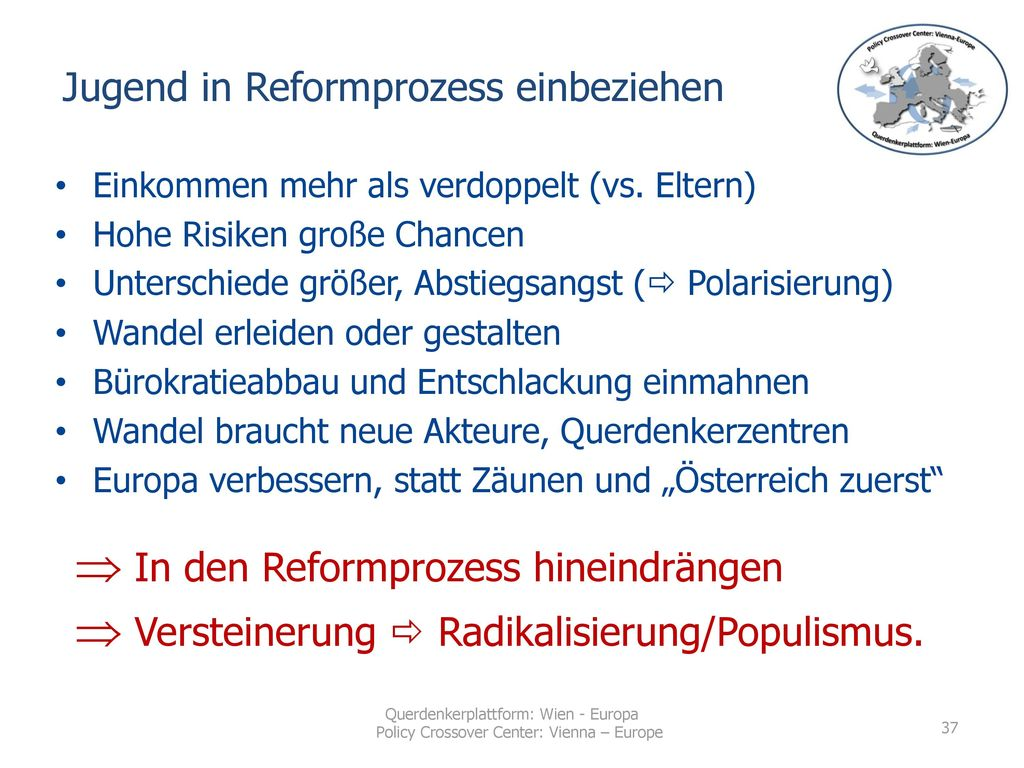 Jugend in Reformprozess einbeziehen