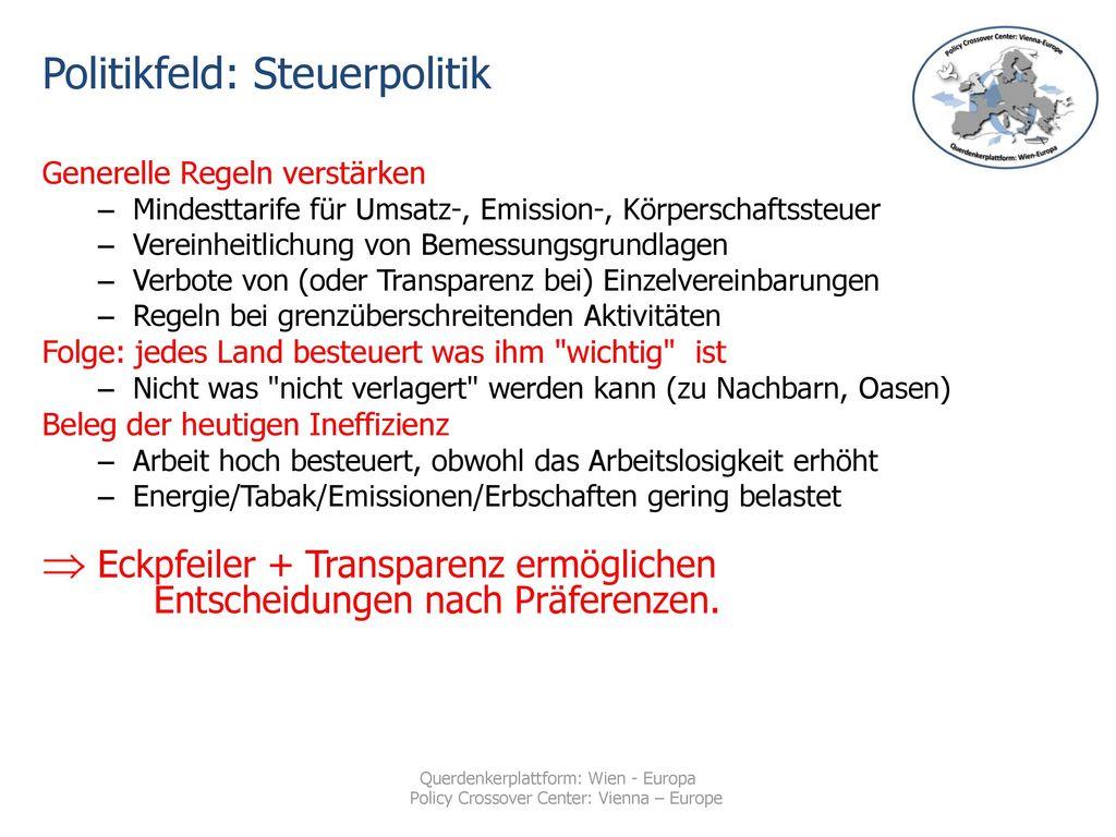 Politikfeld: Steuerpolitik