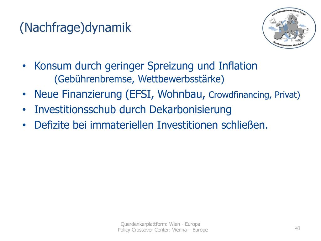 (Nachfrage)dynamik Konsum durch geringer Spreizung und Inflation (Gebührenbremse, Wettbewerbsstärke)