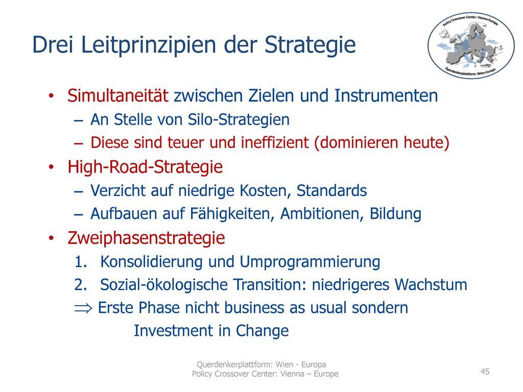 Drei Leitprinzipien der Strategie