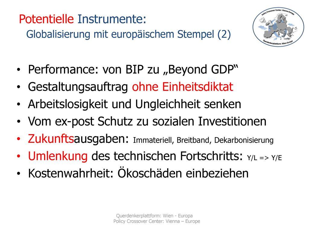 Potentielle Instrumente: Globalisierung mit europäischem Stempel (2)