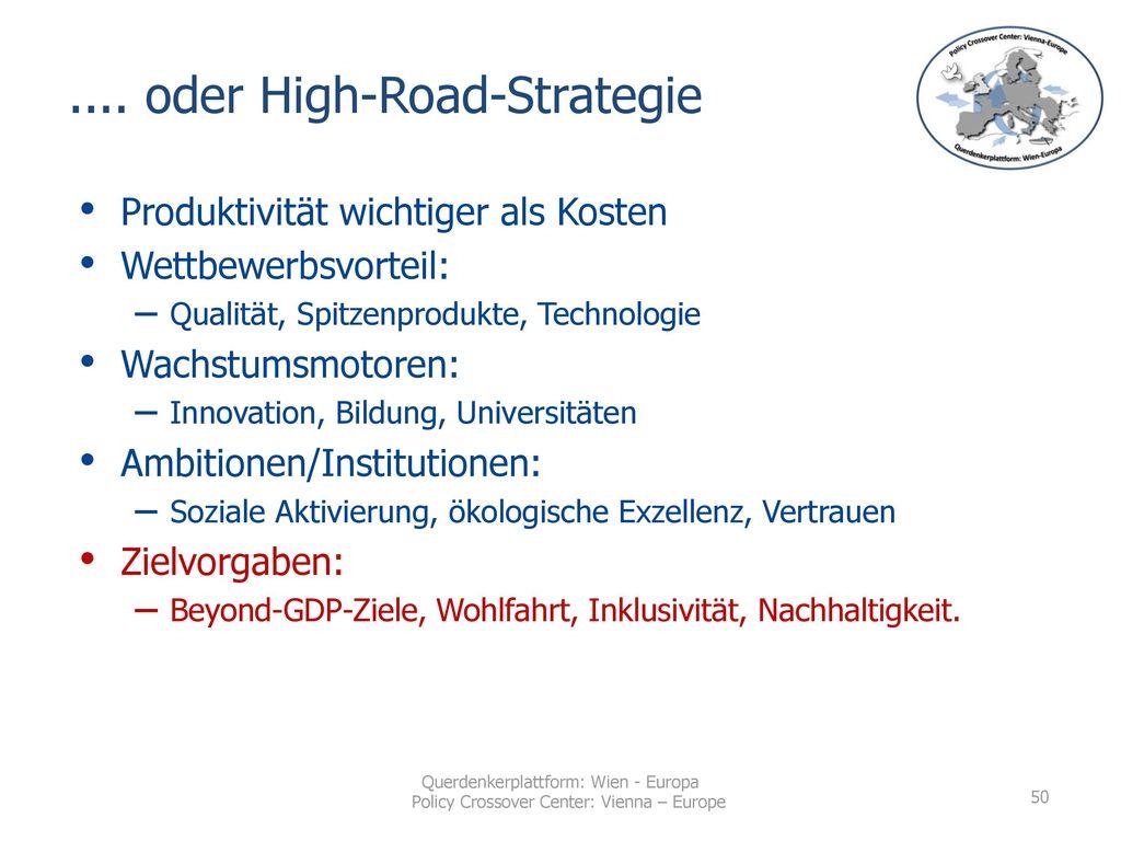 .... oder High-Road-Strategie