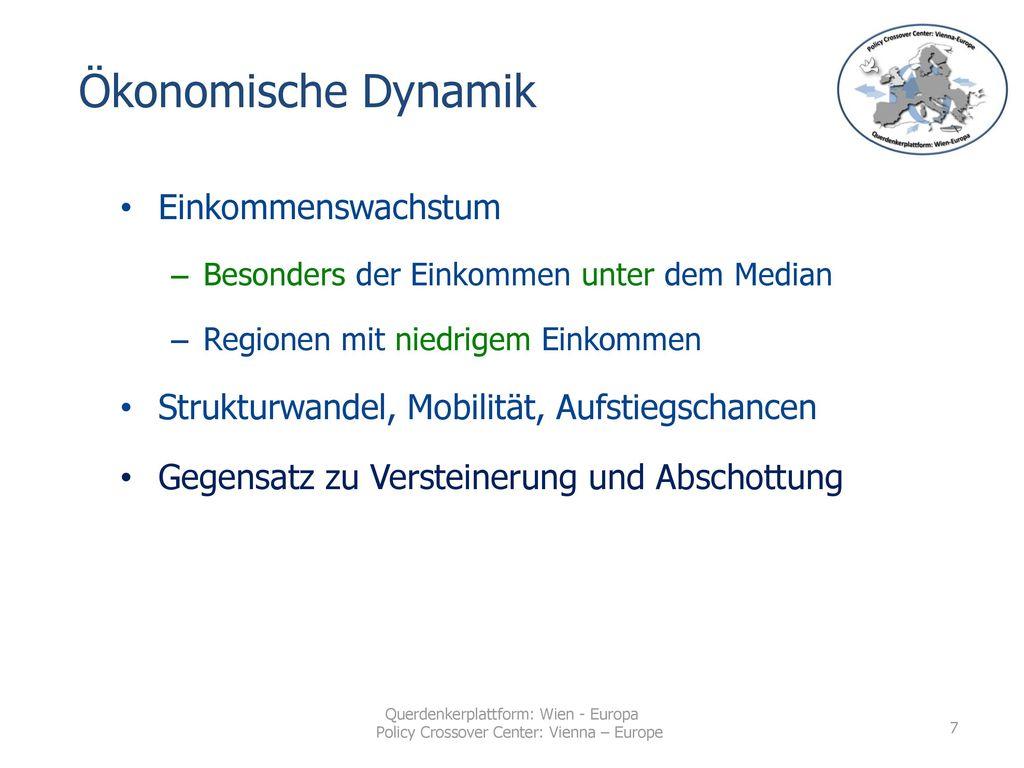 Ökonomische Dynamik Einkommenswachstum