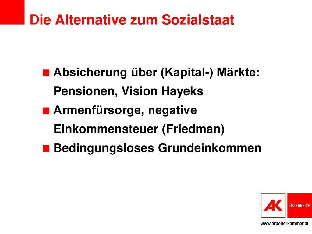 Die Alternative zum Sozialstaat