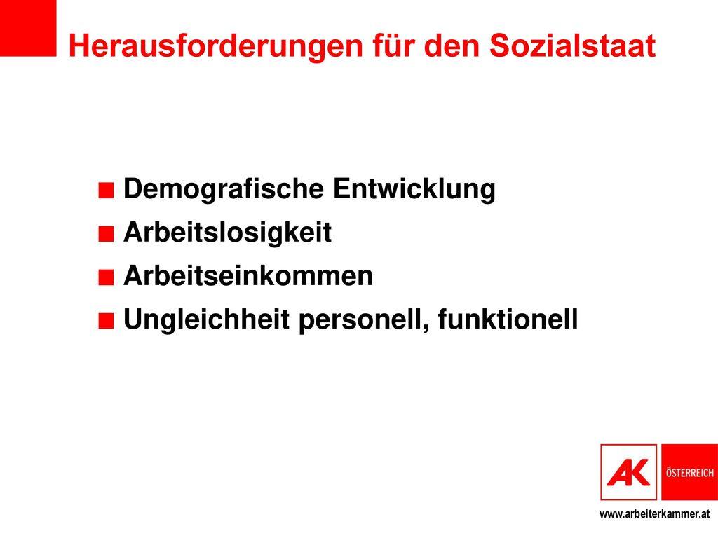 Herausforderungen für den Sozialstaat