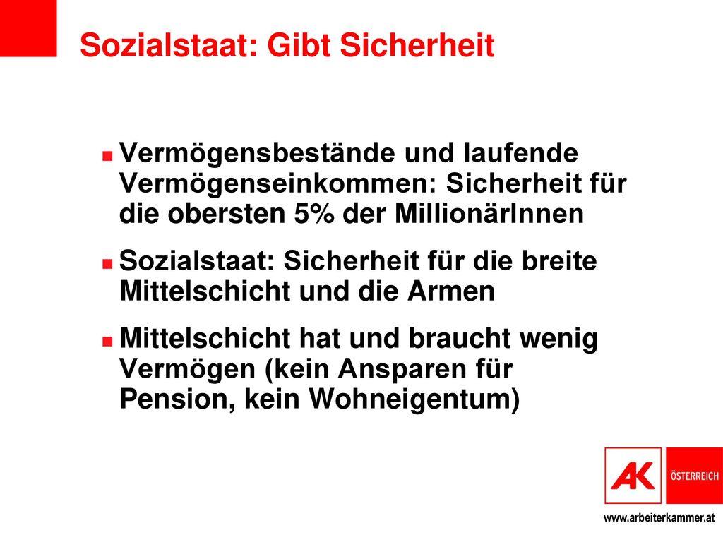 Sozialstaat: Gibt Sicherheit