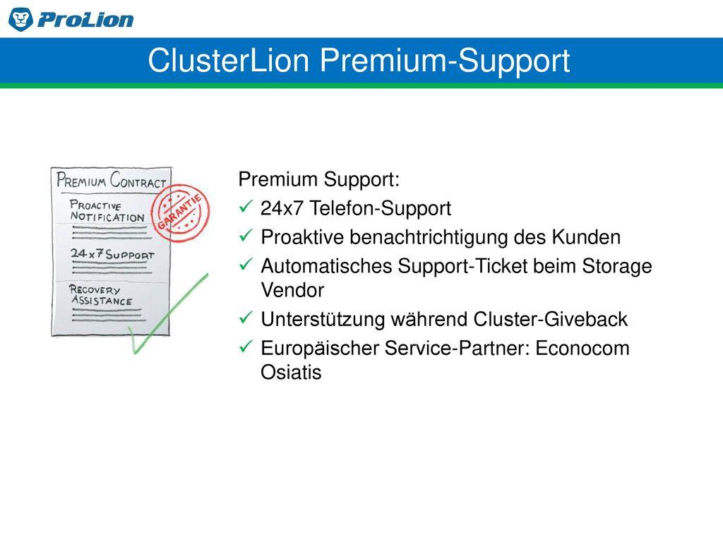 ClusterLion Premium-Support