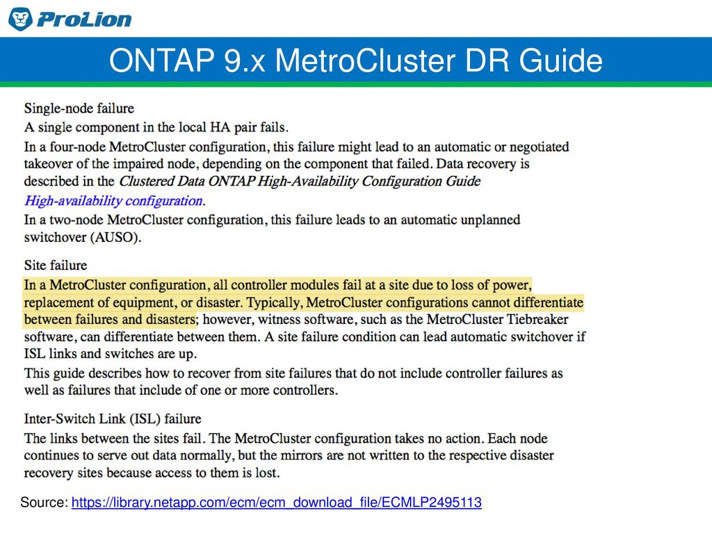 ONTAP 9.x MetroCluster DR Guide