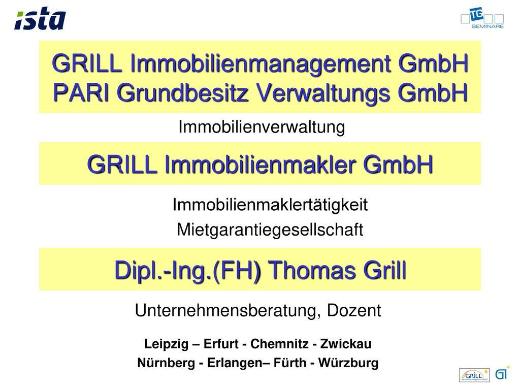GRILL Immobilienmanagement GmbH PARI Grundbesitz Verwaltungs GmbH