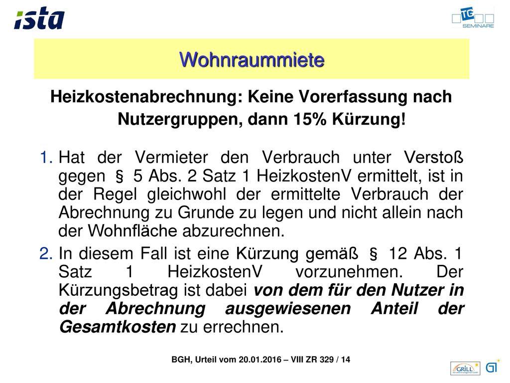 Wohnraummiete Betriebskosten: