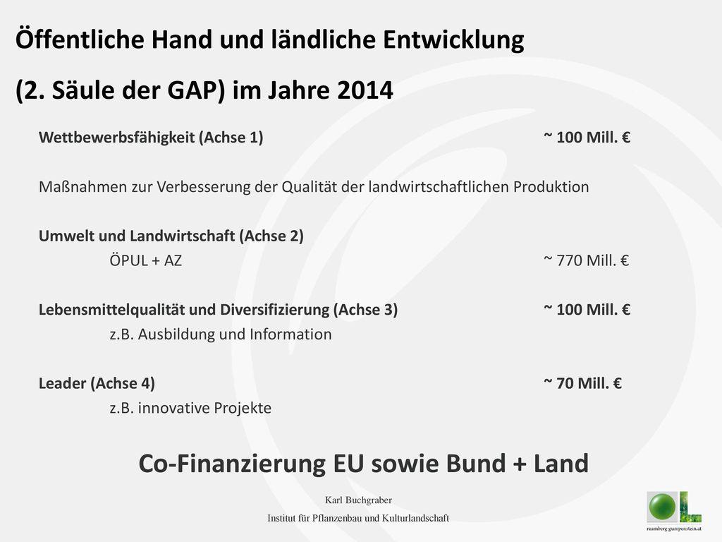 Co-Finanzierung EU sowie Bund + Land