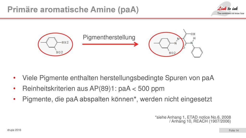 Primäre aromatische Amine (paA)