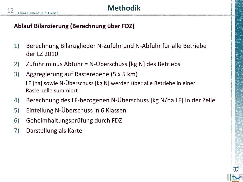 Methodik Ablauf Bilanzierung (Berechnung über FDZ)