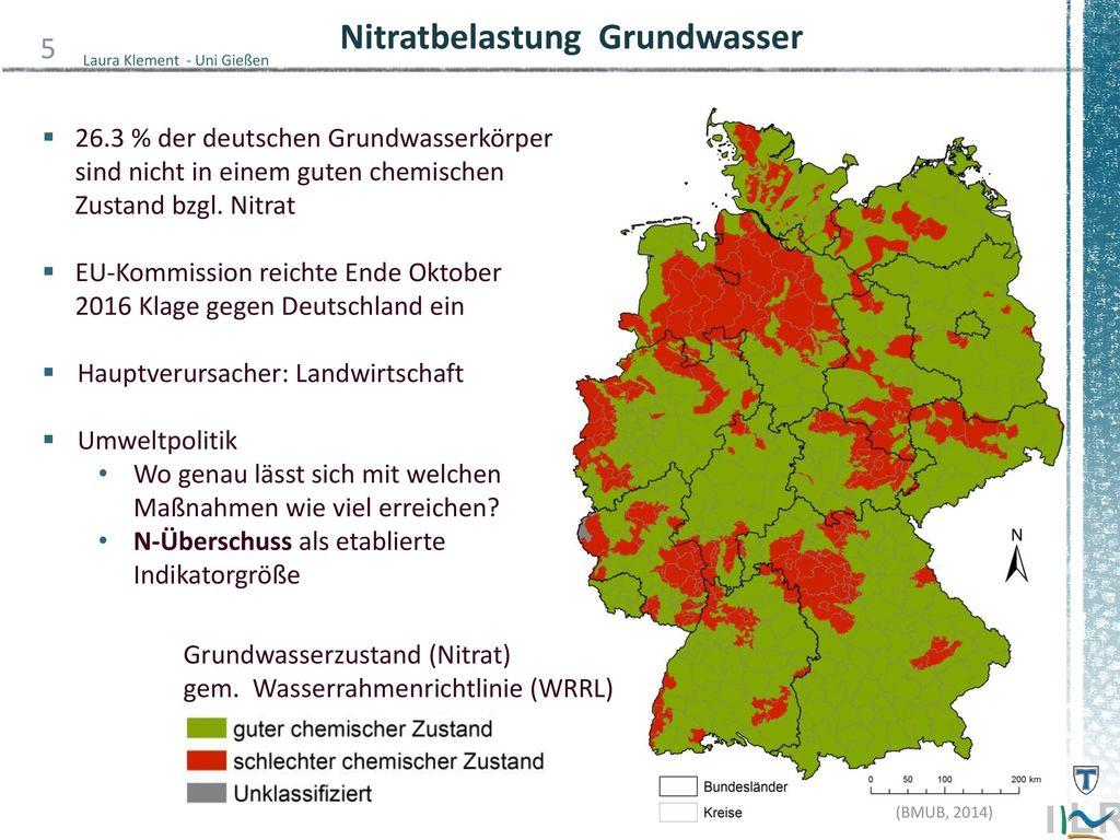 Nitratbelastung Grundwasser