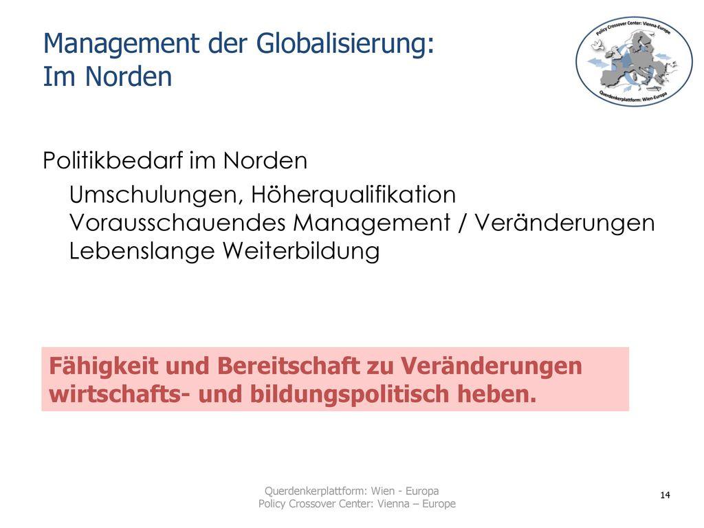 Management der Globalisierung: Im Norden