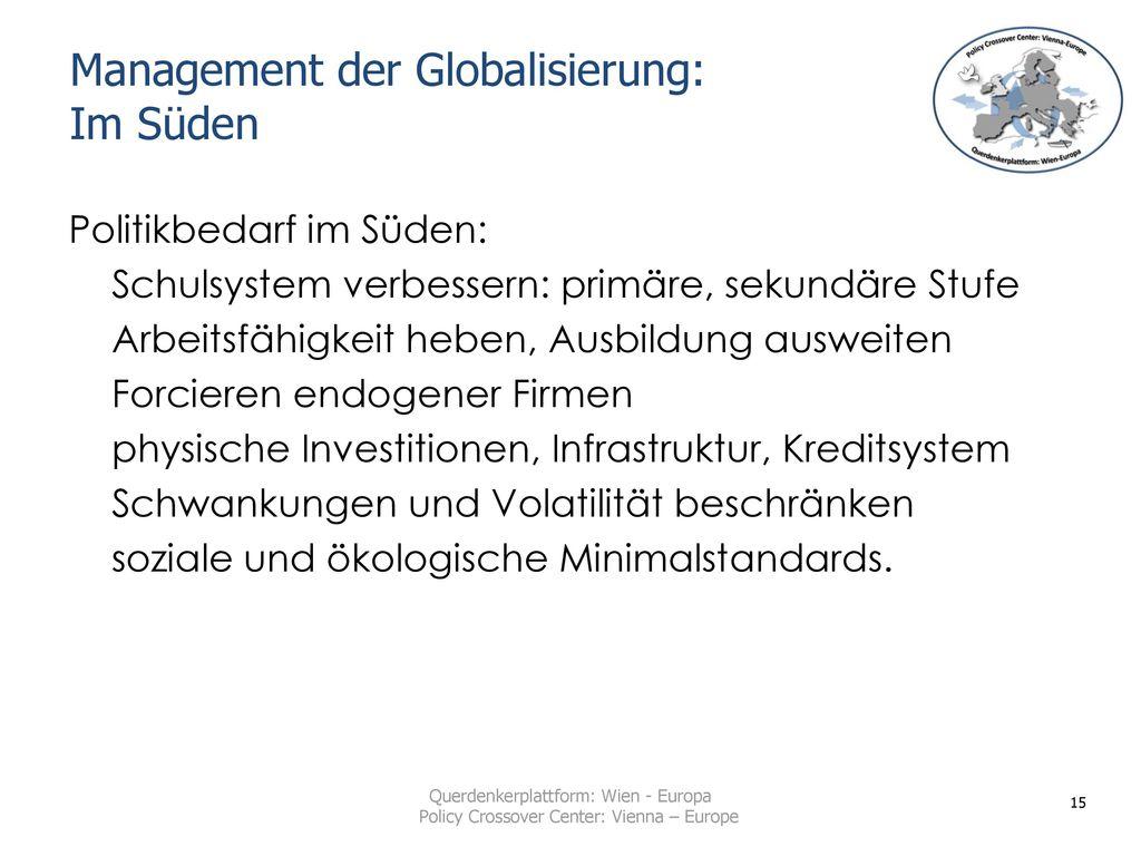 Management der Globalisierung: Im Süden